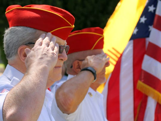 Members of the Deming Marine Corps League stood watch