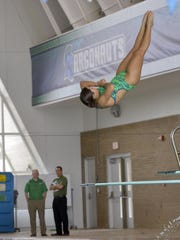 University of West Florida diving team member, Josie McKee, trains for this week's NCAA Division II Swimming and Diving Championships in Indianapolis.