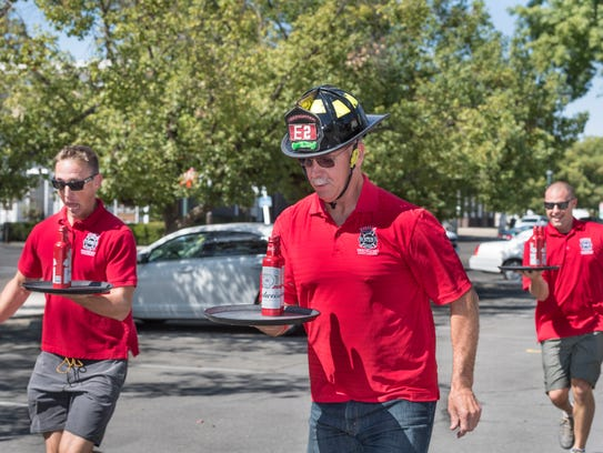 Visalia firefighters Chris Bailey, Allen Wilkinson