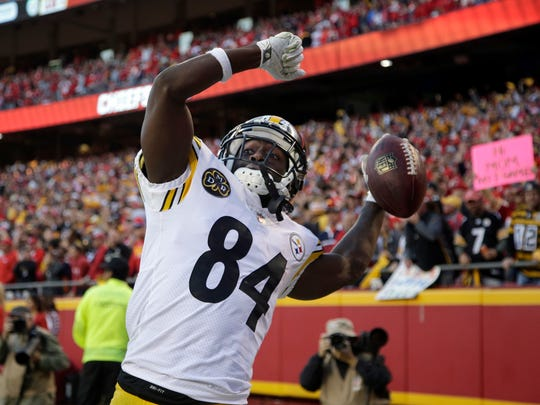 Steelers receiver Antonio Brown is also known for his wild TD celebrations. The former CMU player has been featured in Pepsi commercials this year highlighting his moves.