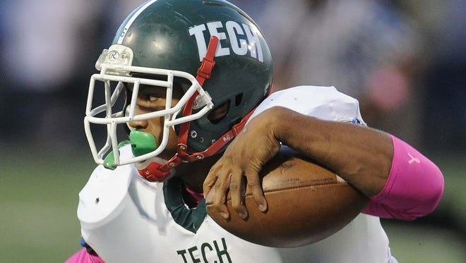 FILE - James Gilbert, shown here in 2013 for Tech, switched his commitment from Western Michigan to Ball State.