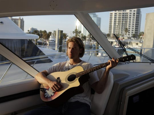 Bronson Arroyo aboard his yacht, Nasty Hook.
