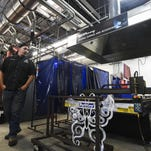 Josh Heuerman talks about the welding technology classes available at Front Range Community College on Wednesday. The classes are among the most popular at the Fort Collins college.