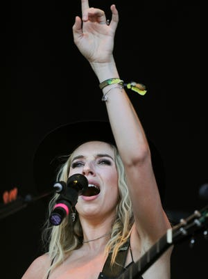 ZZ Ward performs for the crowd at Bourbon and Beyond.