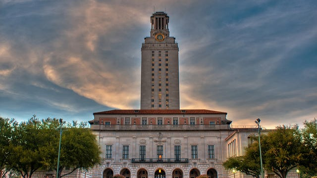 The Tower on the UT-Austin campus.
