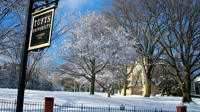 Greek life is on hold at Tufts.