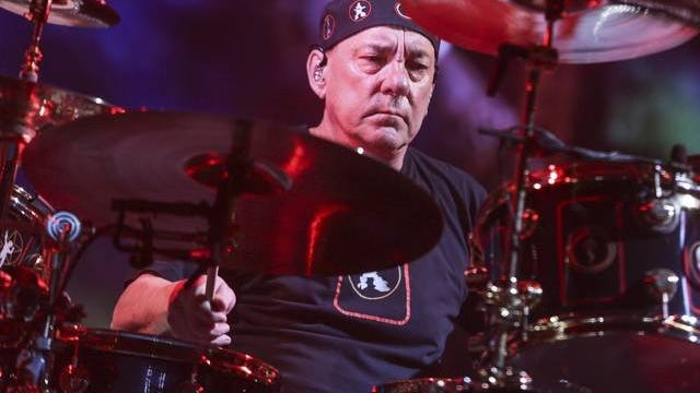 Rush drummer Neil Peart performing Aug. 1, 2015 during the band's final show of the R40 Tour in Los Angeles. Peart died at his Santa Monica, California home Jan. 7 after a three-year battle with brain cancer.