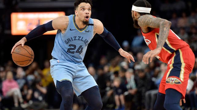 A couple of streaks ended Monday in Memphis, as Dillon Brooks (24) scored 31 points in the Grizzlies' 126-116 loss to visiting New Orleans and stopped their string of seven consecutive wins. The Grizzlies had won 13 straight games in which Brooks had scored at least 20 points.