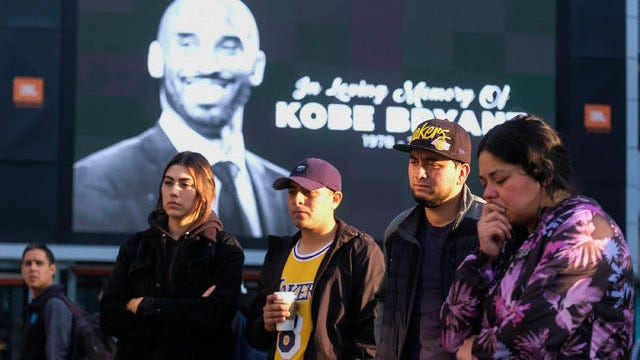 Kobe Bryant, memorialized following his Jan. 26 death in a helicopter crash, was among nine people whose 2020 induction into the Basketball Hall of Fame were announced Saturday.