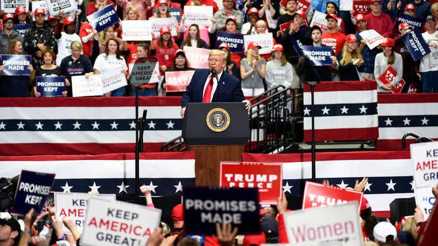 President Donald Trump speaks during a campaign rally in Charlotte, N.C. on March 2.
