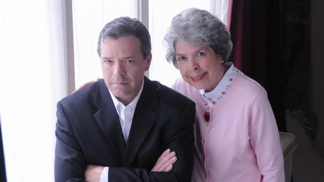In a New York Times piece Sunday, Hillary Clinton said she automatically grabs books by Wilmington mother-son writing team Charles Todd. This is Caroline and Charles Todd.