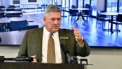 Bill Freeman of the Freeman Webb Company speaks at
