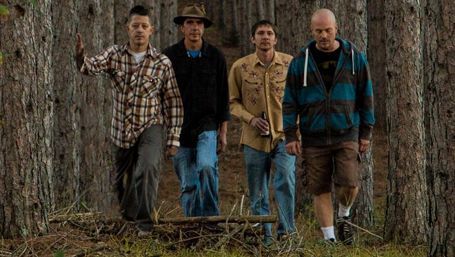 """The Raglanders are, from left, Chris Schoenecker, Troy Heinz, John Steuck and Andrew Cismoski. The Green Bay alt-country band, which also includes Molly Robinson on fiddle, celebrates the release of its first EP, """"Pembine,"""" Saturday night at Frets & Friends."""
