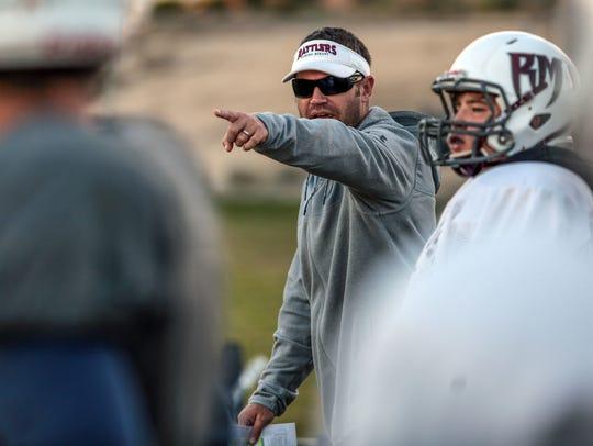 Rancho Mirage High School football coach L.D. Matthews
