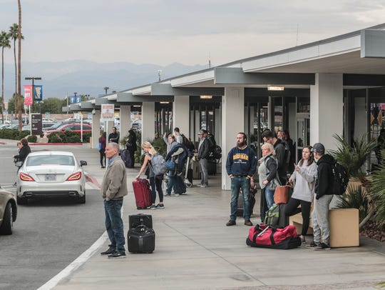 Palm Springs International Airport late Saturday morning