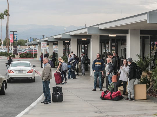 Palm Springs International Airport late Saturday morning on Saturday, December 16, 2017.