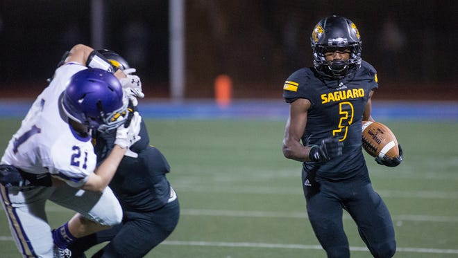 Sophomore wide receiver Robert Branch-Williams was one of four Saguaro High football players who received an offer from Louisville in the past week.