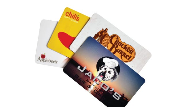 Gift cards to local and national restaurants are great for foodies.