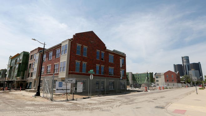 Orleans Landing is a new development east of downtown Detroit off of Jefferson.