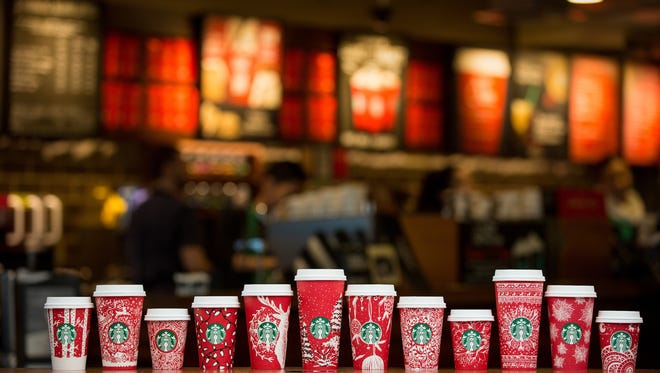 Starbucks red holiday cups feature 13 designs from six countries.