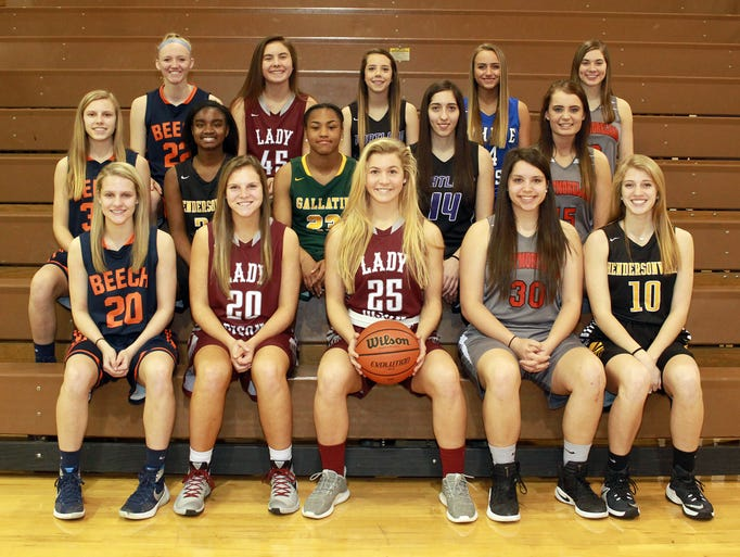All-Sumner County Girls Basketball Team: front row,