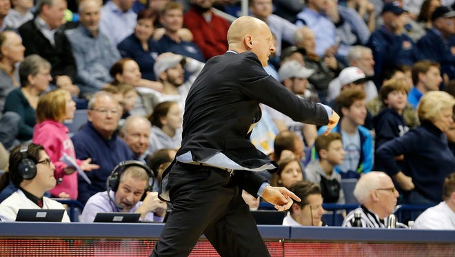 Xavier head coach Chris Mack was called for a technical foul in the 2nd half against Creighton at the Cintas Center Monday, January 16, 2017. The No. 22 Musketeers (13-5) lost to seventh-ranked Creighton, 72-67.