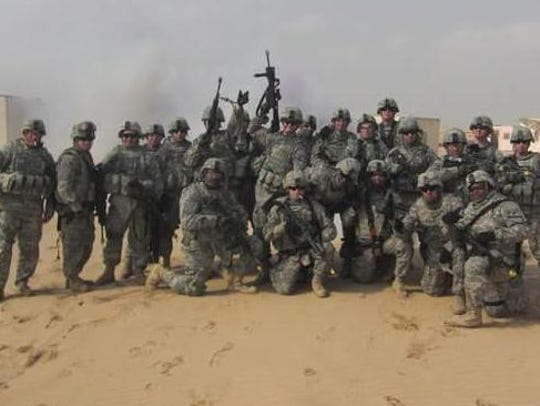 Members of Tim Hallgring's U.S. Army Cavalry troop
