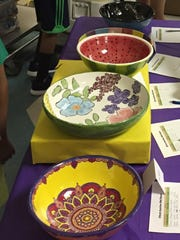 The Brookside PTA is instrumental in funding materials for the Empty Bowls Project