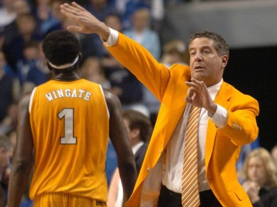 In his first season as head coach of the University of Tennessee men's basketball team, Bruce Pearl led the Volunteers to a 75-67 win over Kentucky in Lexington on Feb. 7, 2006.