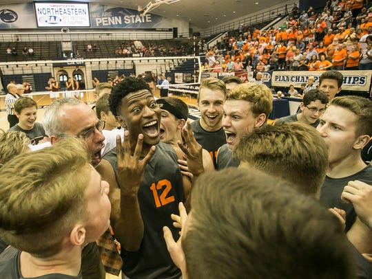 Winners of four consecutive Class 2-A boys' volleyball
