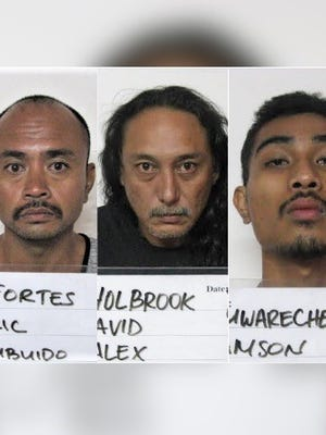 Eric Fortes, David Alex Holbrook and Amson Mwarecheong are shown in this combined photo.