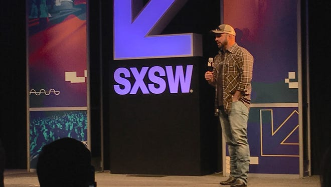 Garth Brooks speaking Friday, March 17, 2017, at South By Southwest in Austin, Tex.