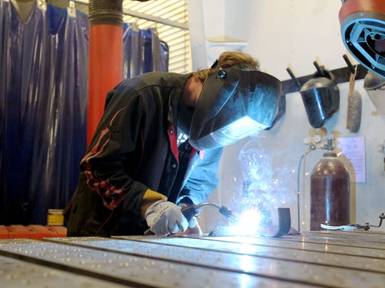 Welding station: Welding is the process of joining