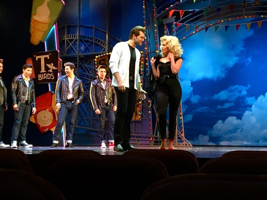 "Cedar Crest graduate Katrina Diehm sings during ""You're the One That I Want,"" in the Royal Caribbean Cruise Line's production of ""Grease."""