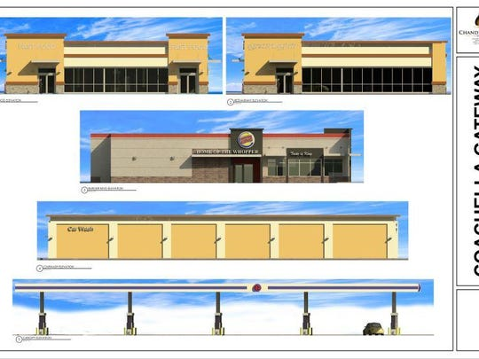 An artist rendering of the project includes a Burger King.