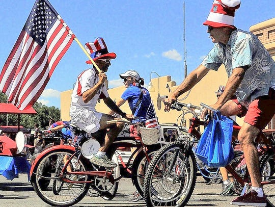 Riders display their national pride at last year's