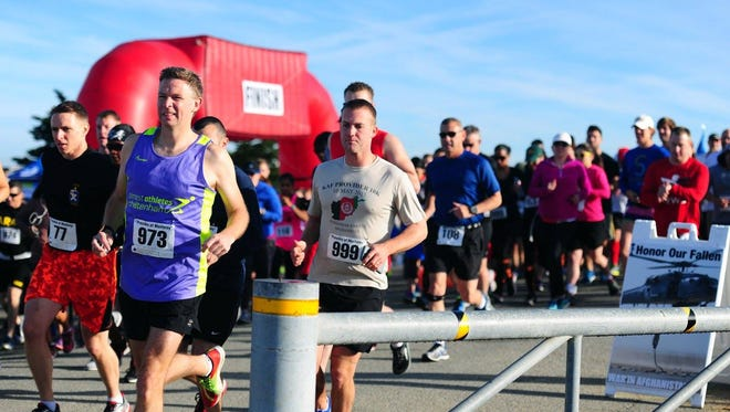 Runners participate in a past Honor Our Fallen Run at Ft. Ord.