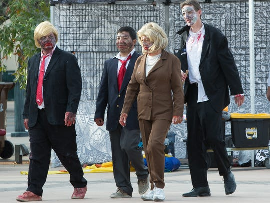 A group of Presidential hopeful zombies,  Don Shinners