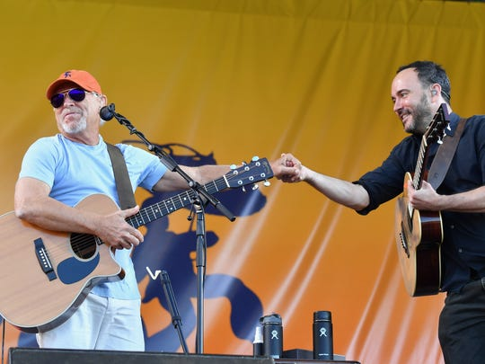 Dave Matthews played a stripped down set that involved
