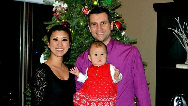 Bryan Van Stippen and family in a photo posted to the candidate's Facebook page.