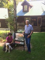 Candy Shira and her husband Marv Engle at their camp