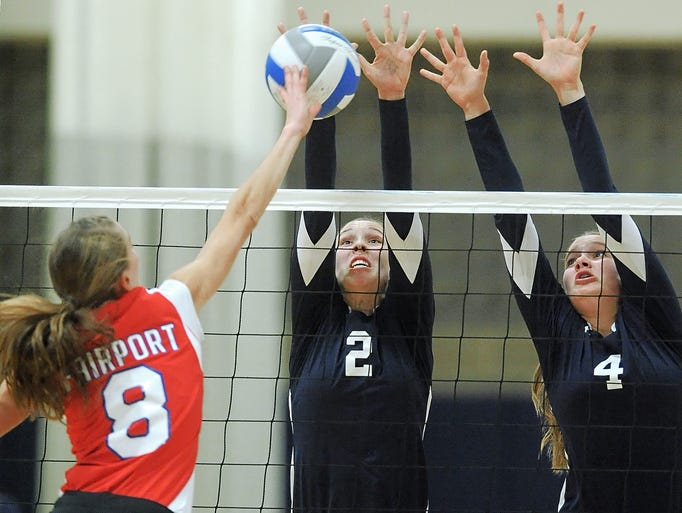 Mercy defeated Fairport in four games in a Class AA sectional semifinal.