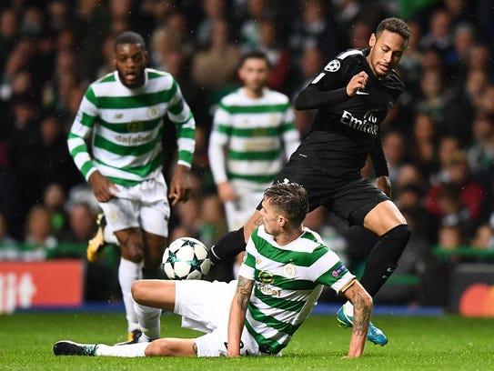 Neymar Jr. brilló en la victoria del PSG sobre el Celtic.
