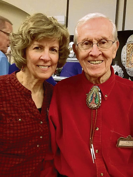 J. Paul Taylor, here with his daughter Mary Helen Ratje, will celebrate his 95th birthday at a Friends of the Taylor Family Monument party from 4 to 6 p.m. Sunday at the New Mexico Farm & Ranch Heritage Museum.