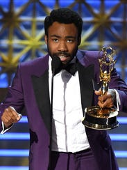 Actor Donald Glover accepts Outstanding Lead Actor
