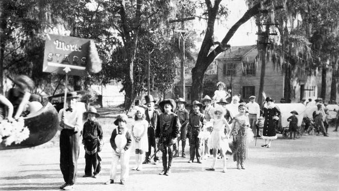 A reported 1,000 children dressed as Hollywood stars was the most popular parade of Tallahassee's 1924 centennial celebration.