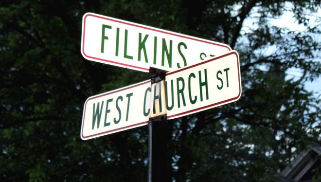 Filkins Street, founded by George Filkins in the late 1800s, features many homes that were once at other locations in the village.