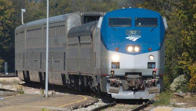 An Amtrak passenger train