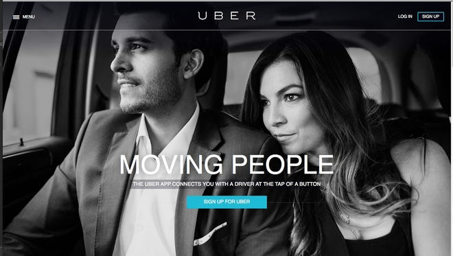 Online service Uber connects travelers with professional drivers.