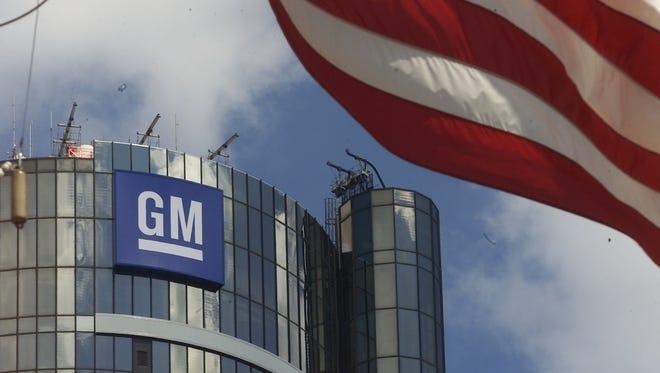 General Motors headquarters at the Renaissance Center in downtown Detroit